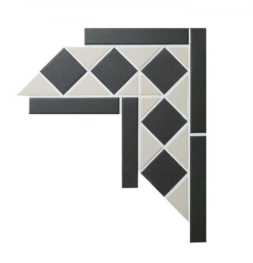 C-TR2-UB-W square triangle corner tile accents