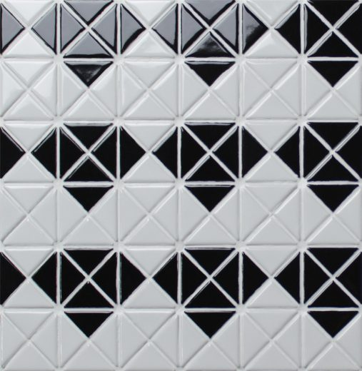 1″ Triangular Multi Diamond Pattern Matte Porcelain Mosaic Tile