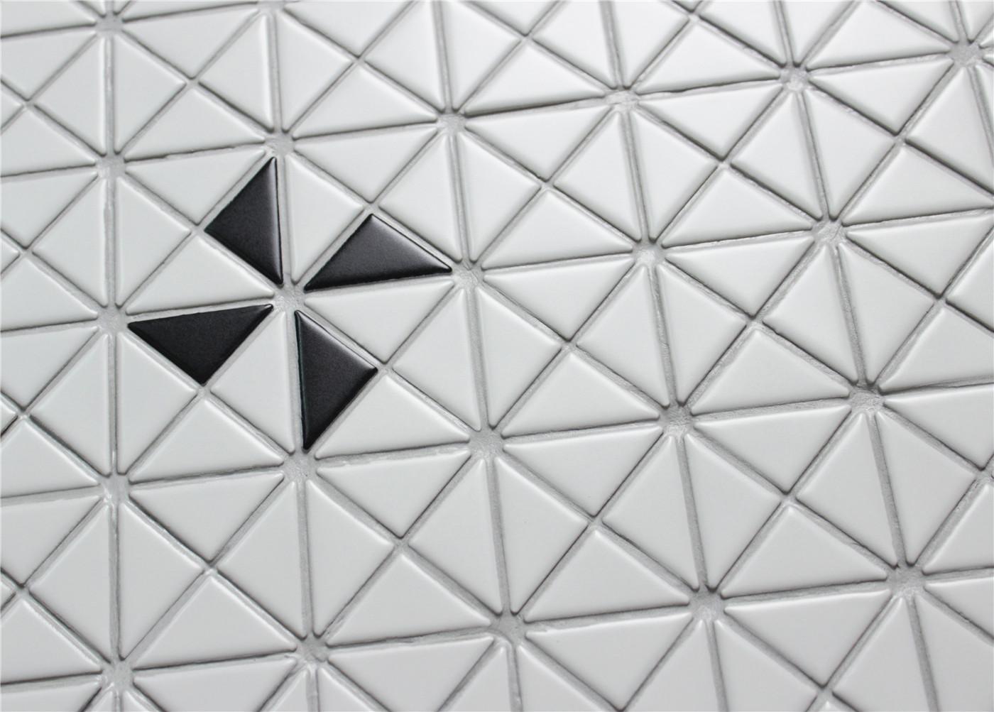 1 Single Windmill Pattern Matte Porcelain Geometric