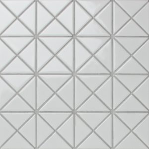 TR2-GW_1 glossy pure white triangle tile