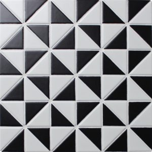 TR2-MW-MW-B_1 matte windmill pattern triangle tile