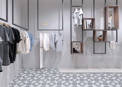 TR2-MWG-DD02H_gray white geometric tile pattern fashion shop flooring