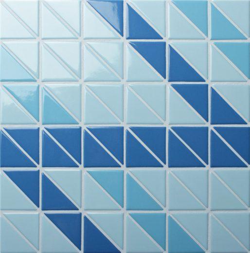 TR-SA-R triangle mosaic pool tiles