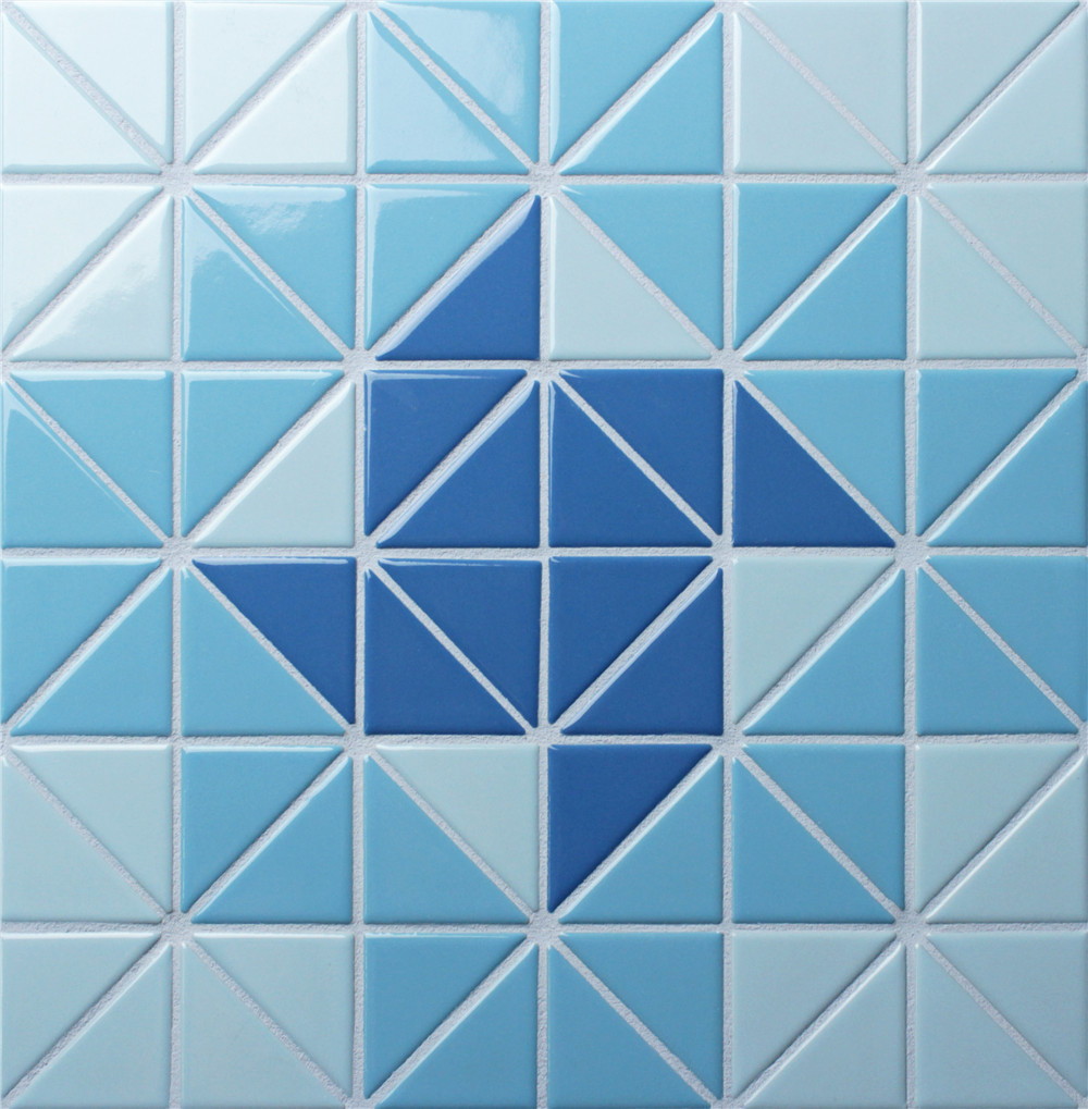 2 triangle santorini wheel triangle swimming pool tile designs