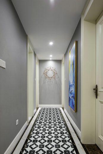Magic Cube Series 2'' black white triangle mosaic artistic tile for flooring