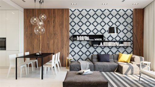 TR2-BLM-SQ1 triangle geometric wall tiles interior design