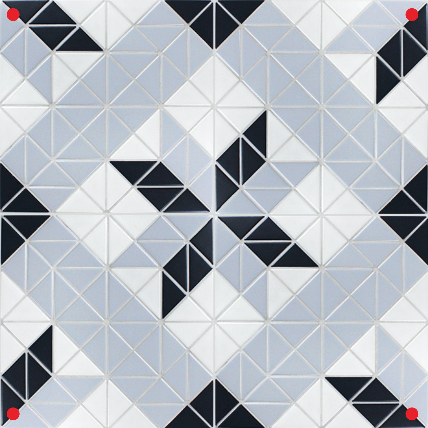 Blue Mountain Twist Blossom 2\'\' Triangle Geometric Tiles Pattern ...