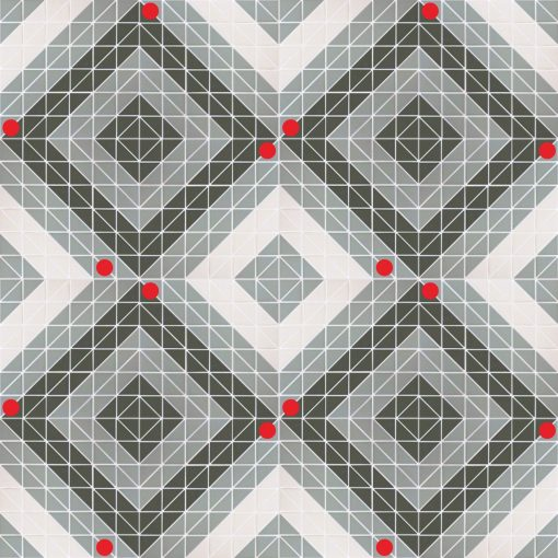 TR2-CH-TSQ1 geometric mosaic floor tiles twist 16 sheets patterns