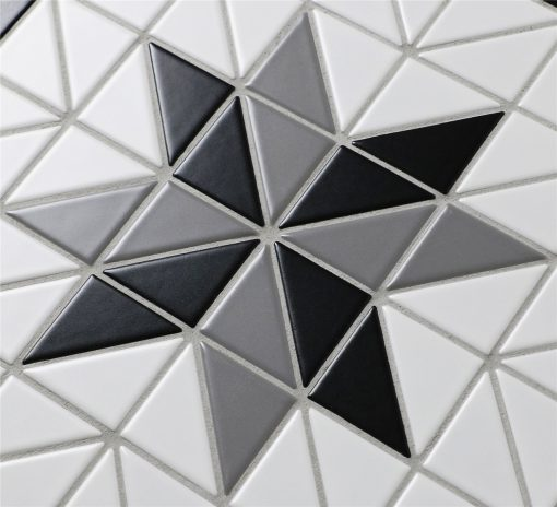 TR2-CL-BL2 matte triangle geometric tile mosaic
