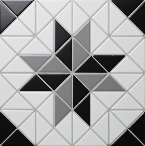 TR2-CL-BL2 triangle geometric tile mosaic