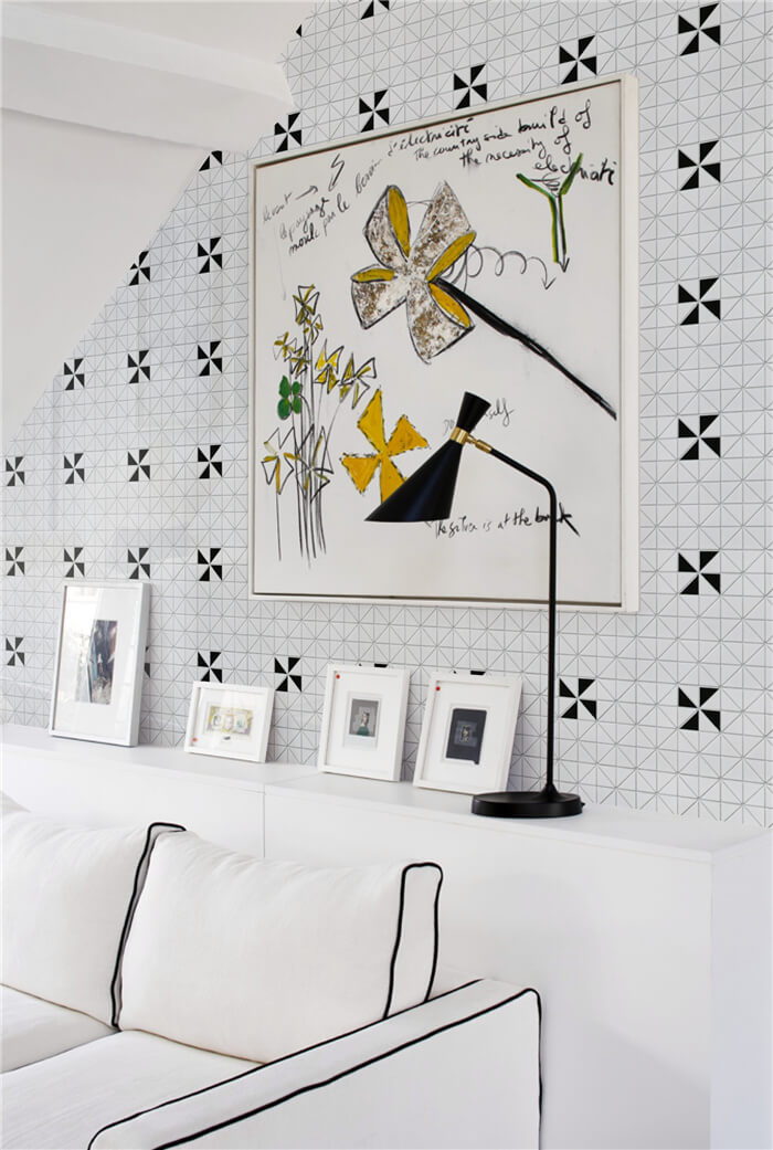 windmill tile wall decor for lively living room
