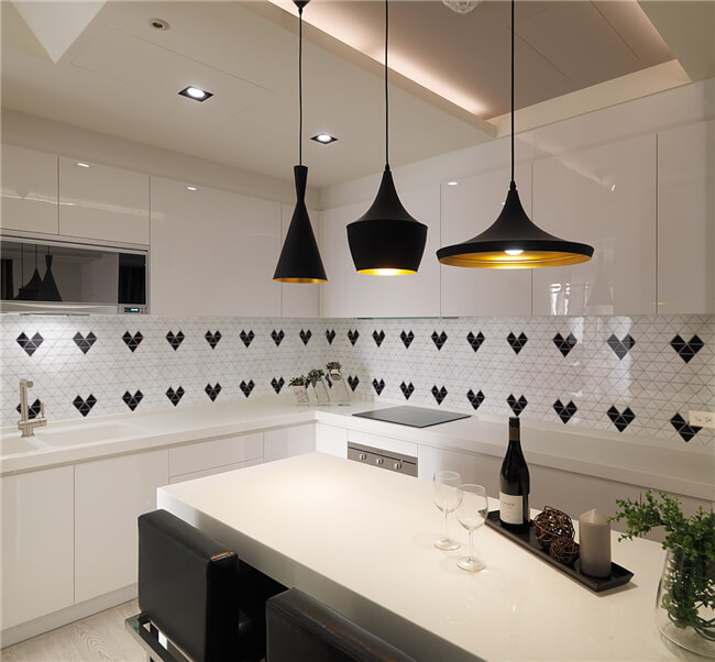 small kitchen design ideas-install pendant lights